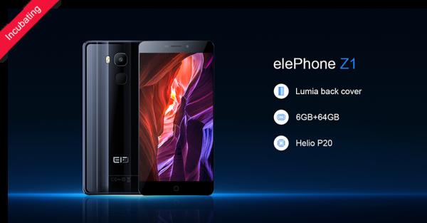 Elephone Z1: низкая цена и 6 ГБ оперативной памяти