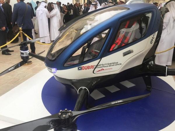 Дроны заменят такси в Дубае