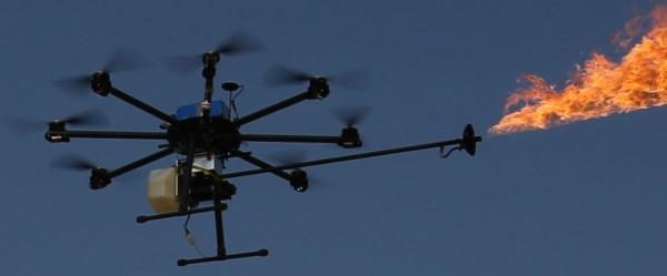 В Китае появились дроны с огнеметами