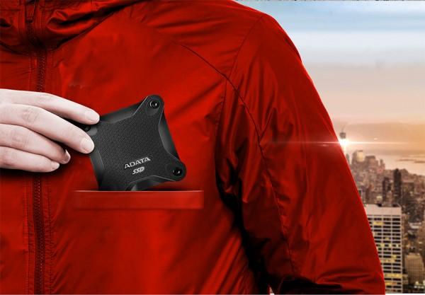 ADATA SD600 — карманный SSD с защитой от тряски и падений