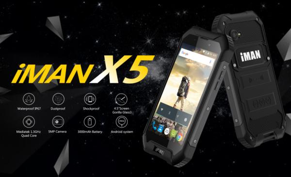 Недорогой смартфон iMAN X5 можно ронять в воду