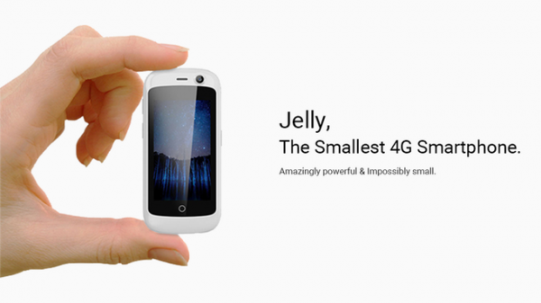 Jelly — миниатюрный смартфон c 4G и Android 7