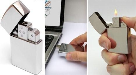 USB-флешка с зажигалкой