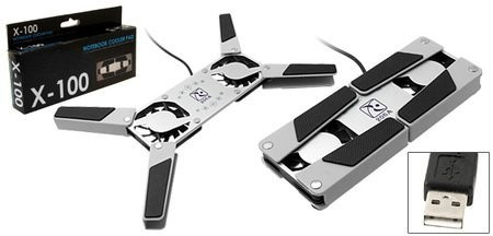 Охлаждающая система для ноутбуков Mini Folding USB Laptop Cooling Pad