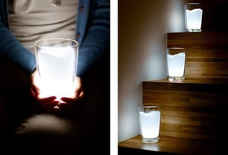 Стакан-лампа Milk Glass LED Night Light Lamp