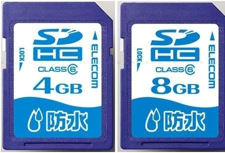 Водонепроницаемые карты памяти от Elecom