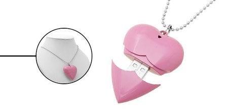 Ожерелье с флешкой Heart Necklace USB Drive