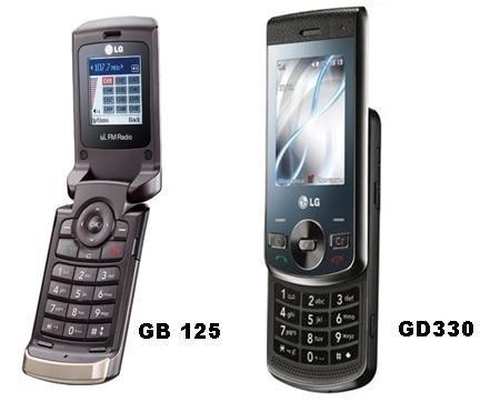 GD330 и GB125 – новые телефоны от LG