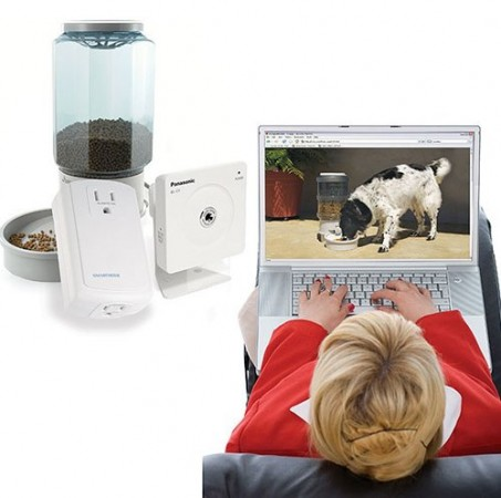 Домашний питомец и Remote Pet Feeding & Viewing Camera Kit