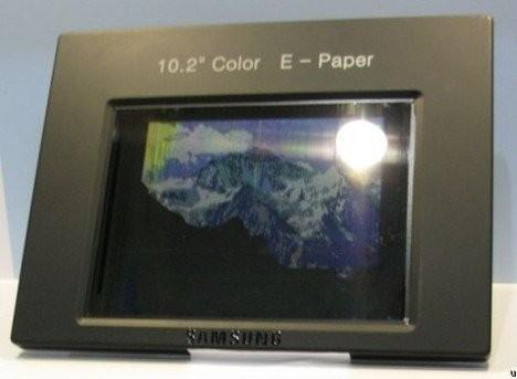 Цветной дисплей от Samsung, использующий технологию электронной бумаги