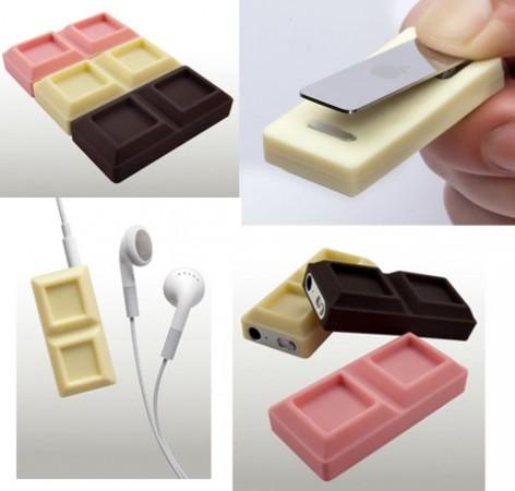 Chocoshuffle - 3 шоколадных футляра для iPod Shuffle