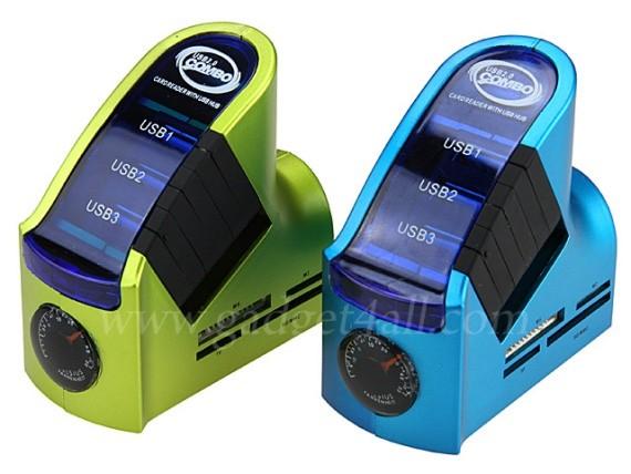 USB-хаб и Memory Card Reader показывает температуру