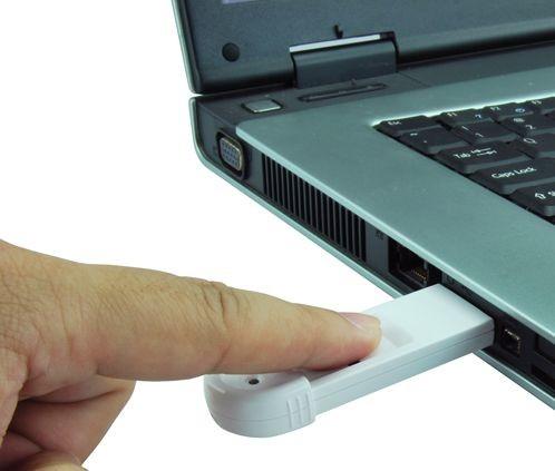 Флешка с датчиком отпечатков пальцев