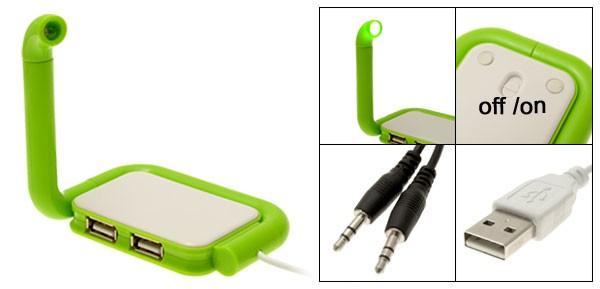 Портативный светильник с USB-хабом