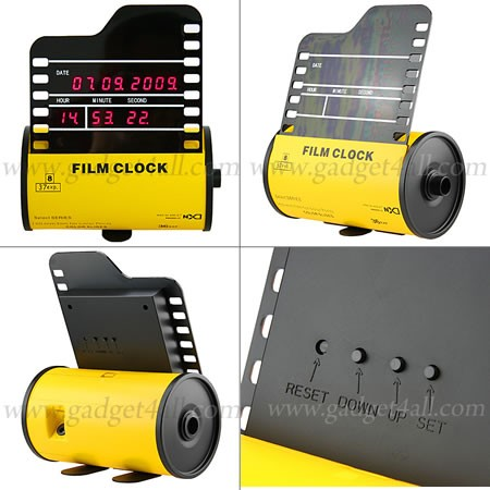 Roll Film Clock — ретро-часы для фанатов фотографии