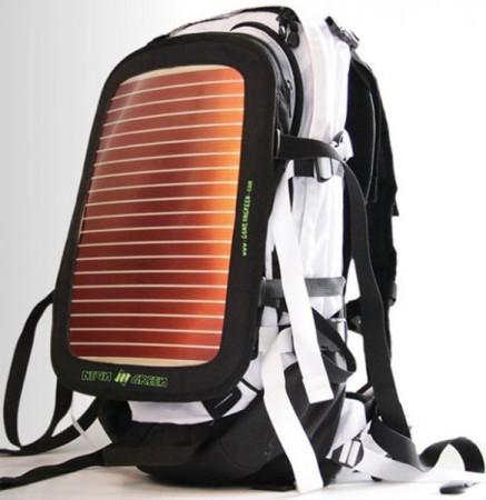 Рюкзак на солнечных батареях Neon Green Soular Backpack