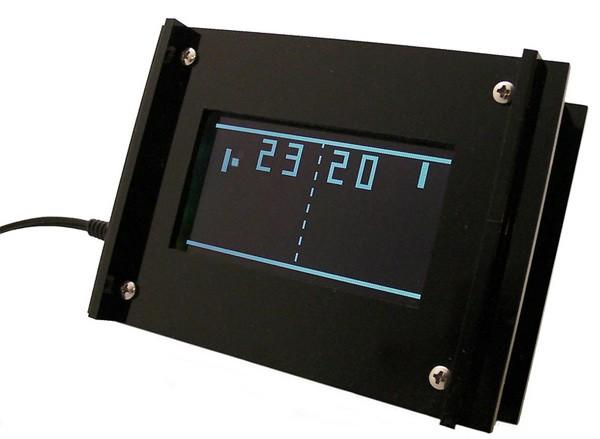 Ретро-часы Adafruit Monochron в стиле Pong поступили в продажу