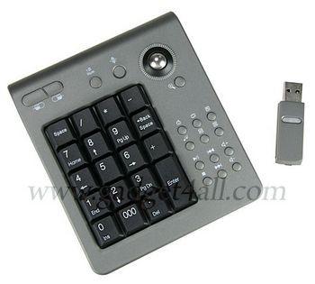 Беспроводная цифровая клавиатура с трекболом