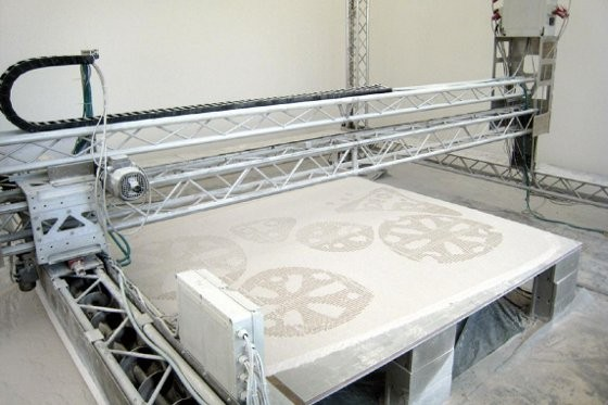 Массивный 3D-принтер напечатает лунную базу?