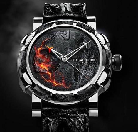 Часы с лавой из эйя... из того вулкана в Исландии