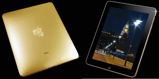 iPad из золота с бриллиантами