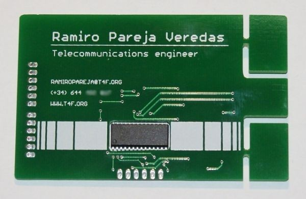 Оригинальная визитная карточка