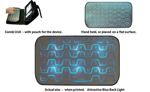 Bluetooth-клавиатура размером с кредитку