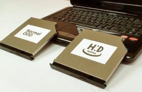 HyDrive от Hitachi и LG: оптический привод + SSD