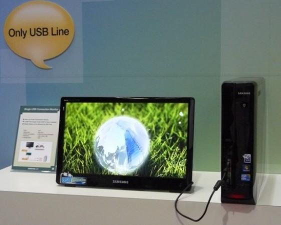18,5'' ЖК-монитор от Samsung, подключается к… USB!