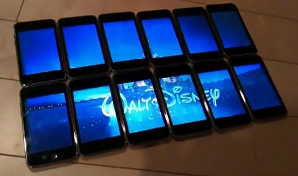 Составной большой экран из нескольких iPhone