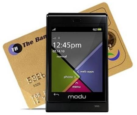 Мини-телефон с сенсорным дисплеем Modu T