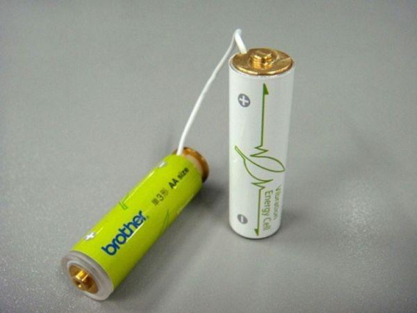 Батарейки, заряжающиеся от вибрации