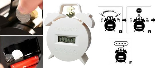 Будильник-копилка Banclock Twin Bell Alarm Clock
