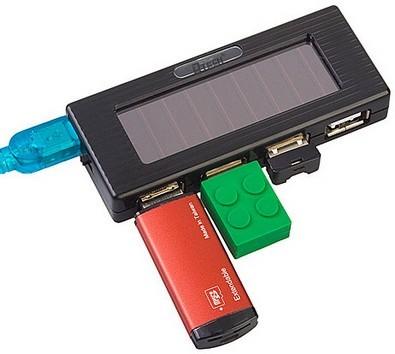 USB-хаб на солнечных батареях