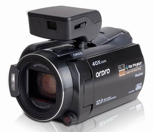 Видеокамера с пикопроектором