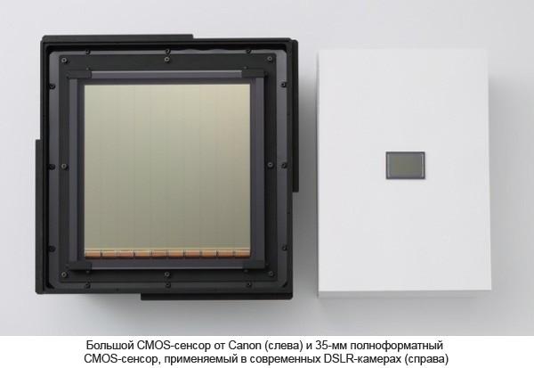 Canon разрабатывает самый большой CMOS-сенсор