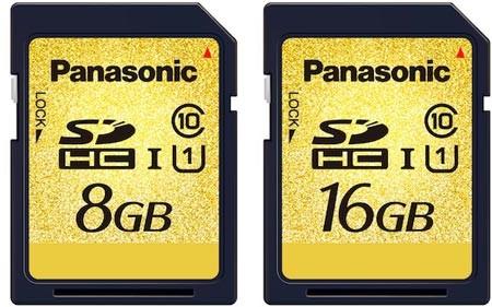 Panasonic анонсирует новые карты памяти UHS-I SDHC