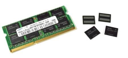 Samsung начинает производство 8 ГБ модулей DDR3 SoDIMM