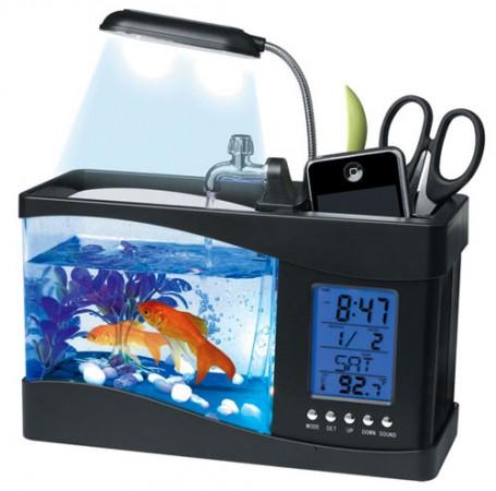 Настольный USB-аквариум с настоящей рыбкой!