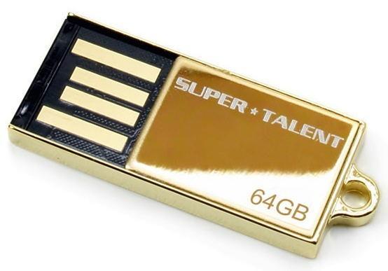 Золотая 64 ГБ флэшка от Super Talent