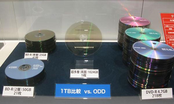 TDK разработала оптический диск объемом в 1 ТБ