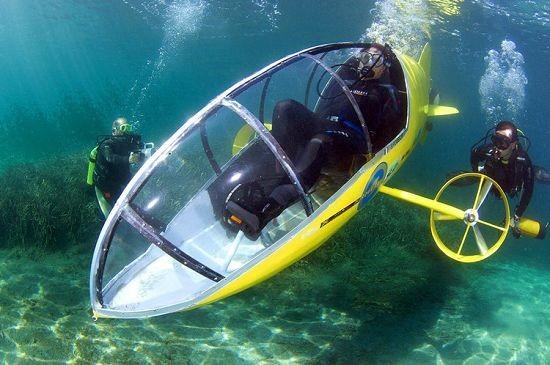 Scubster – подводная лодка с педалями