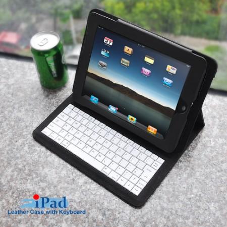 Кожаный чехол для iPad с Bluetooth-клавиатурой