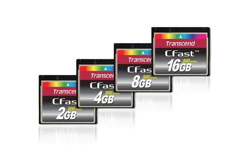 Transcend готовит выпуск скоростных карт памяти CFast 500