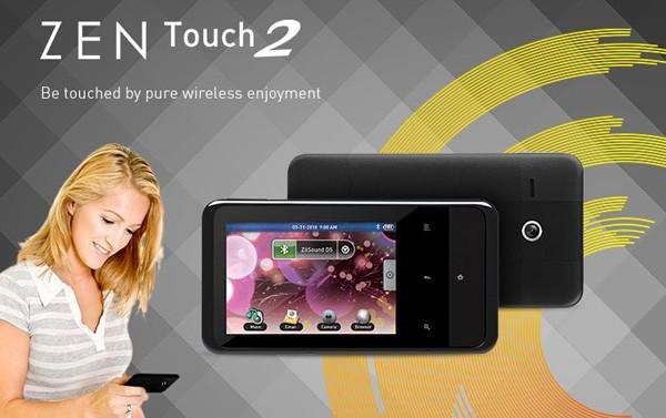 Creative представляет плеер на ОС Android - Zen Touch 2