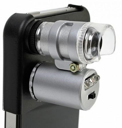 Микроскоп для iPhone с подсветкой и 60X увеличением