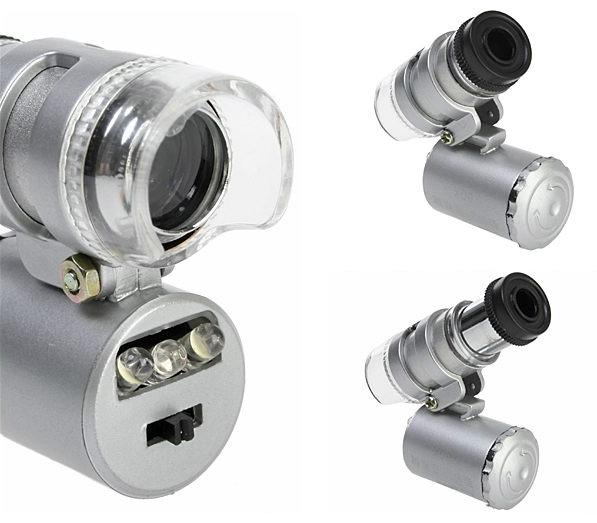 Микроскоп для iPhone с подсветкой и 60X увеличением X_c13eba6a