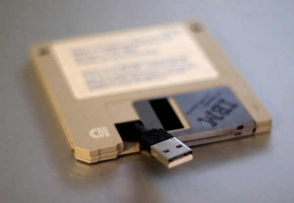 3,5'' флоппи-диск в качестве USB-флешки