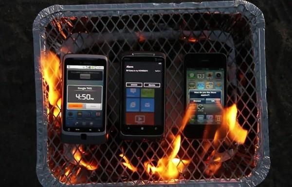 Экзекуция смартфонов на гриле