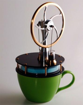 Двигатель Стирлинга для чайной чашки
